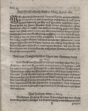 Bericht waß sich zugetragen unnd begeben vom 21.06.1621