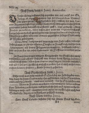 Bericht waß sich zugetragen unnd begeben vom 05.07.1621