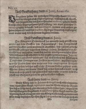 Bericht waß sich zugetragen unnd begeben vom 19.07.1621