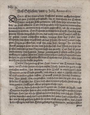 Bericht waß sich zugetragen unnd begeben vom 23.08.1621