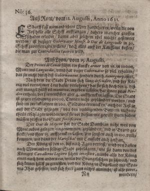 Bericht waß sich zugetragen unnd begeben vom 20.09.1621
