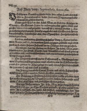 Bericht waß sich zugetragen unnd begeben vom 27.09.1621
