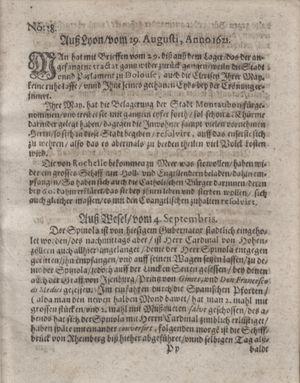 Bericht waß sich zugetragen unnd begeben vom 04.10.1621