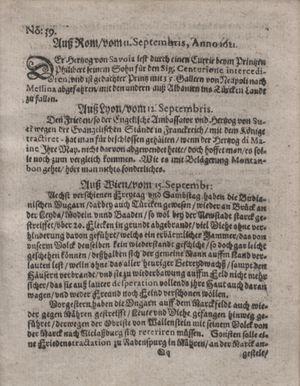Bericht waß sich zugetragen unnd begeben vom 11.10.1621