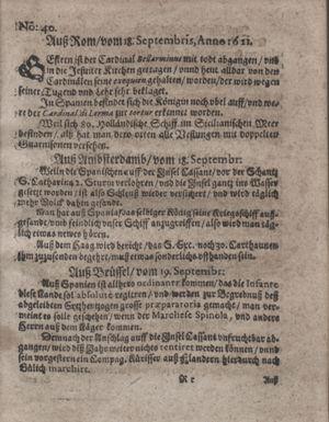 Bericht waß sich zugetragen unnd begeben vom 18.10.1621