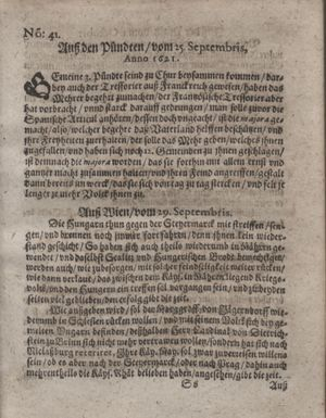 Bericht waß sich zugetragen unnd begeben vom 25.10.1621