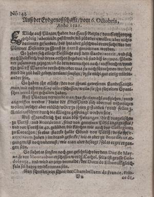 Bericht waß sich zugetragen unnd begeben vom 08.11.1621