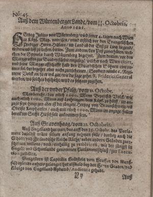 Bericht waß sich zugetragen unnd begeben vom 22.11.1621