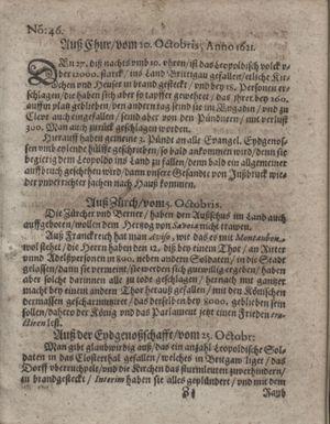 Bericht waß sich zugetragen unnd begeben vom 29.11.1621