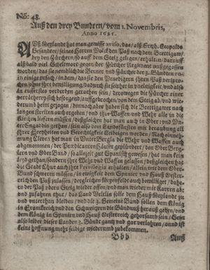 Bericht waß sich zugetragen unnd begeben vom 13.12.1621