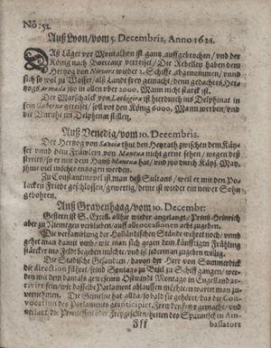 Zeitung im ... Jhaar einkommen und wöchentlich zusammen getragen worden vom 10.01.1622