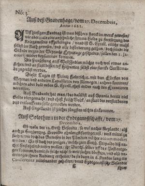 Zeitung im ... Jhaar einkommen und wöchentlich zusammen getragen worden vom 31.01.1622