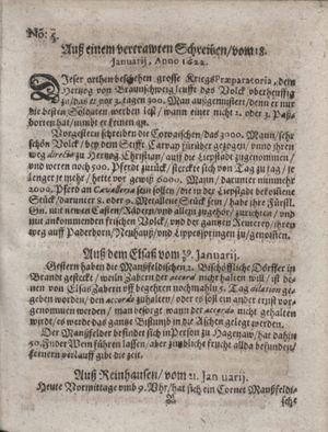 Zeitung im ... Jhaar einkommen und wöchentlich zusammen getragen worden vom 14.02.1622