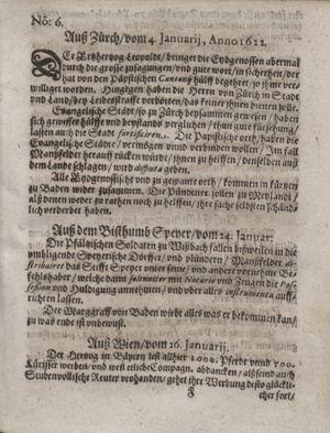 Zeitung im ... Jhaar einkommen und wöchentlich zusammen getragen worden vom 21.02.1622