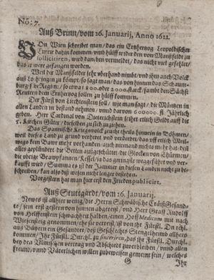 Zeitung im ... Jhaar einkommen und wöchentlich zusammen getragen worden vom 28.02.1622