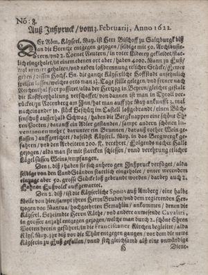 Zeitung im ... Jhaar einkommen und wöchentlich zusammen getragen worden vom 07.03.1622