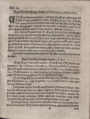 Zeitung im ... Jhaar einkommen und wöchentlich zusammen getragen worden vom 21.03.1622
