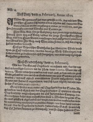 Zeitung im ... Jhaar einkommen und wöchentlich zusammen getragen worden vom 28.03.1622