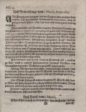Zeitung im ... Jhaar einkommen und wöchentlich zusammen getragen worden vom 04.04.1622