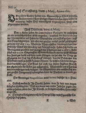 Zeitung im ... Jhaar einkommen und wöchentlich zusammen getragen worden vom 06.06.1622