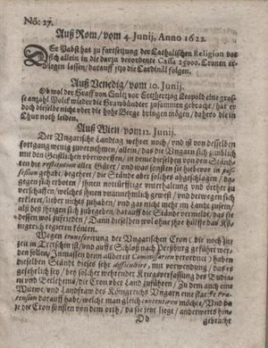 Zeitung im ... Jhaar einkommen und wöchentlich zusammen getragen worden on Jul 18, 1622
