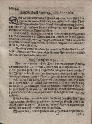 Zeitung im ... Jhaar einkommen und wöchentlich zusammen getragen worden vom 05.09.1622