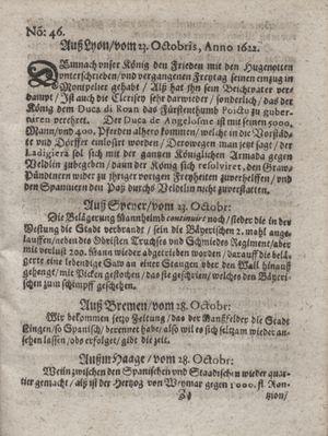 Zeitung im ... Jhaar einkommen und wöchentlich zusammen getragen worden vom 28.11.1622