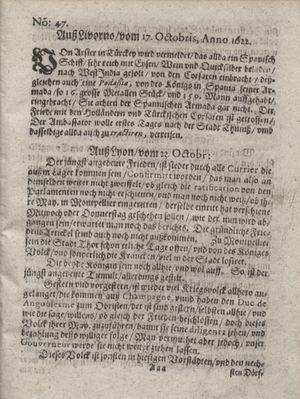 Zeitung im ... Jhaar einkommen und wöchentlich zusammen getragen worden vom 05.12.1622