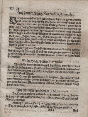 Zeitung im ... Jhaar einkommen und wöchentlich zusammen getragen worden vom 12.12.1622