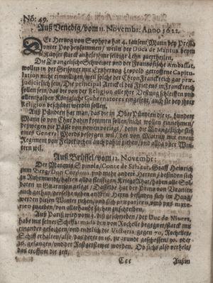 Zeitung im ... Jhaar einkommen und wöchentlich zusammen getragen worden vom 19.12.1622
