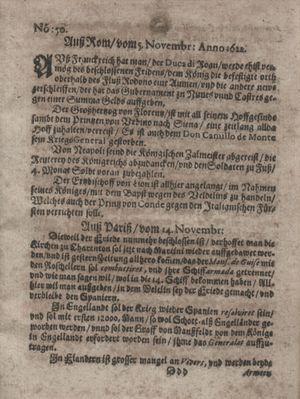 Zeitung im ... Jhaar einkommen und wöchentlich zusammen getragen worden vom 26.12.1622