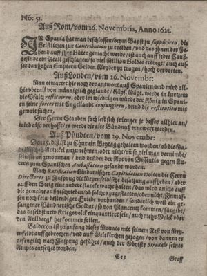 Zeitung so im ... Jahr von Wochen zu Wochen colligirt und zusammen getragen worden vom 02.01.1623