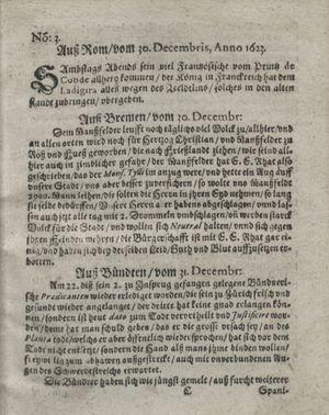 Zeitung so im ... Jahr von Wochen zu Wochen colligirt und zusammen getragen worden on Jan 30, 1623