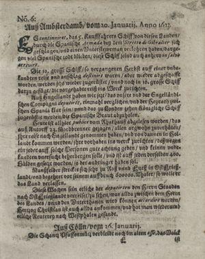 Zeitung so im ... Jahr von Wochen zu Wochen colligirt und zusammen getragen worden vom 20.02.1623