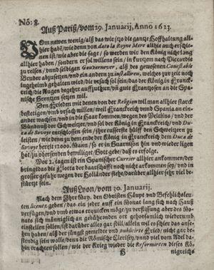 Zeitung so im ... Jahr von Wochen zu Wochen colligirt und zusammen getragen worden vom 06.03.1623