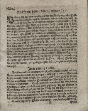Zeitung so im ... Jahr von Wochen zu Wochen colligirt und zusammen getragen worden on Apr 17, 1623