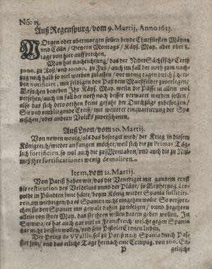Zeitung so im ... Jahr von Wochen zu Wochen colligirt und zusammen getragen worden vom 24.04.1623