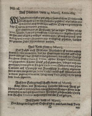 Zeitung so im ... Jahr von Wochen zu Wochen colligirt und zusammen getragen worden vom 01.05.1623