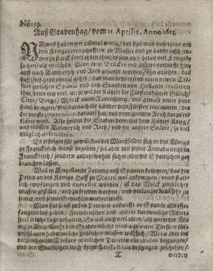 Zeitung so im ... Jahr von Wochen zu Wochen colligirt und zusammen getragen worden vom 22.05.1623