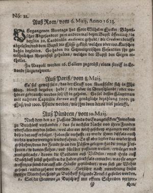 Zeitung so im ... Jahr von Wochen zu Wochen colligirt und zusammen getragen worden vom 12.06.1623