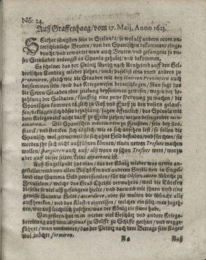 Zeitung so im ... Jahr von Wochen zu Wochen colligirt und zusammen getragen worden vom 26.06.1623