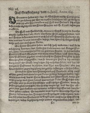 Zeitung so im ... Jahr von Wochen zu Wochen colligirt und zusammen getragen worden vom 10.07.1623
