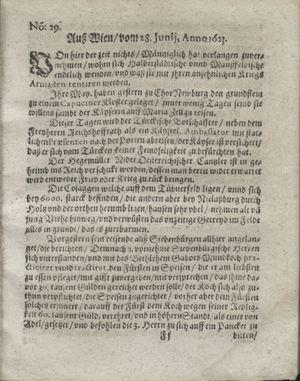 Zeitung so im ... Jahr von Wochen zu Wochen colligirt und zusammen getragen worden vom 31.07.1623
