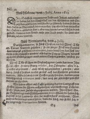 Zeitung so im ... Jahr von Wochen zu Wochen colligirt und zusammen getragen worden vom 07.08.1623
