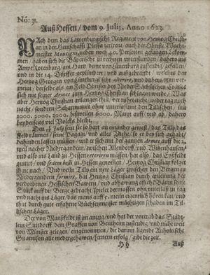 Zeitung so im ... Jahr von Wochen zu Wochen colligirt und zusammen getragen worden vom 14.08.1623