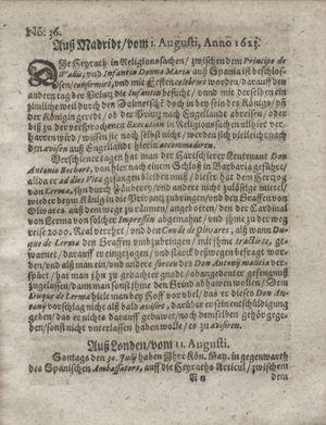 Zeitung so im ... Jahr von Wochen zu Wochen colligirt und zusammen getragen worden vom 18.09.1623