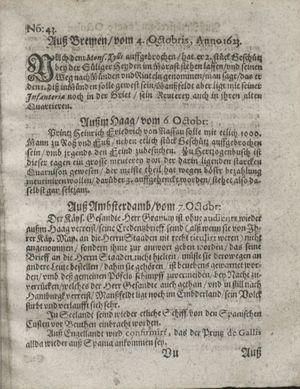 Zeitung so im ... Jahr von Wochen zu Wochen colligirt und zusammen getragen worden on Nov 6, 1623