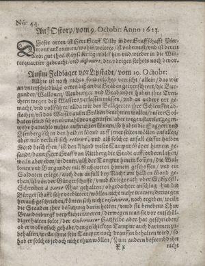 Zeitung so im ... Jahr von Wochen zu Wochen colligirt und zusammen getragen worden vom 13.11.1623