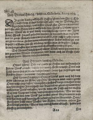 Zeitung so im ... Jahr von Wochen zu Wochen colligirt und zusammen getragen worden vom 04.12.1623