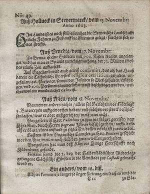 Zeitung so im ... Jahr von Wochen zu Wochen colligirt und zusammen getragen worden on Dec 18, 1623